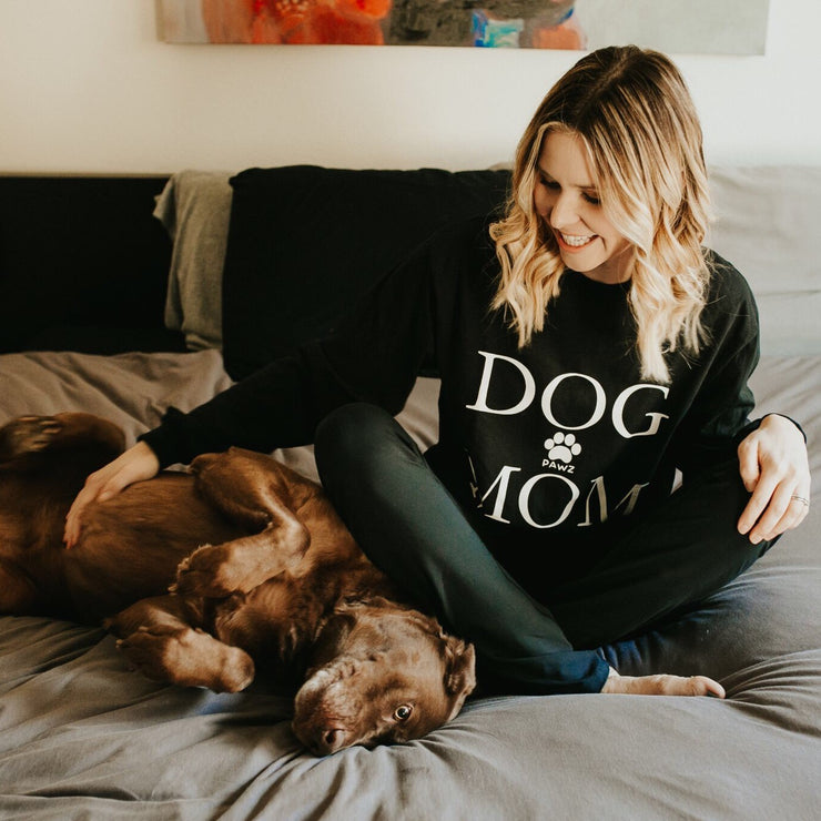Long Sleeve Black Dog Mom Shirt - Pawz