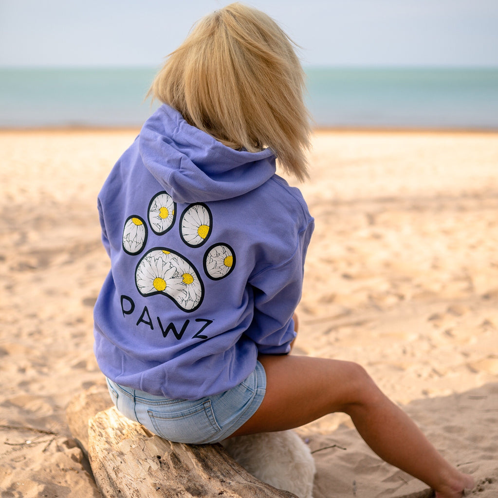 Hooded Lavender Daisy Print
