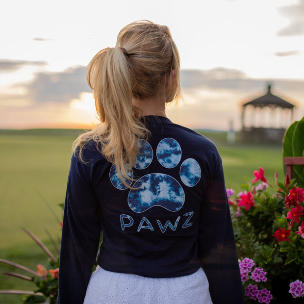 Navy Tie Dye Print Long Sleeve - Pawz