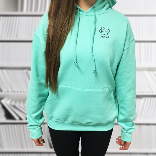 Hooded Mint Athena Print - Pawz