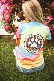 Short Sleeve Rainbow Sherbert Coin Tee - Pawz