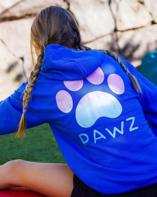 Pawz Snow Cone Print Royal Zip Up - Pawz
