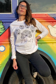 Pawz Sugar Skull White Lightweight Long Sleeve - Pawz
