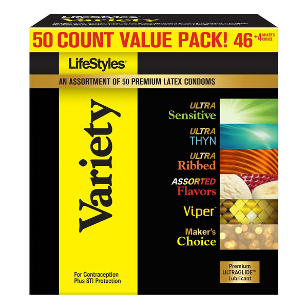 LifeStyles® Variety Pack 50 Count