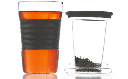 Infuz Glass Travel Mug with Infuser