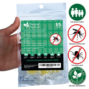 Mosquito Repellent Bracelet Refills Pack of 15 refills
