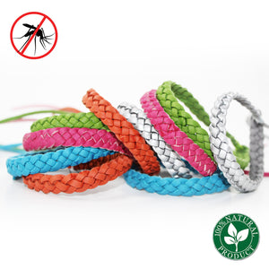 Mosquito Repellent Leather Bracelet color variations