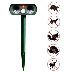 Cat Dog Ultrasonic Repellent Animal Repeller Outdoor Solar Powered and Waterproof Deterrent Scared Pest Control Eco-friendly /