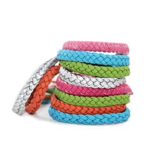 Mosquito Repellent Leather Bracelet
