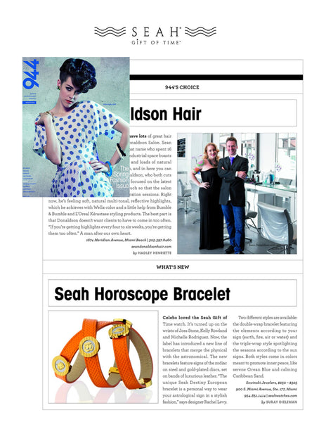 Seah's Destiny bracelets featured in 944 magazine Miami