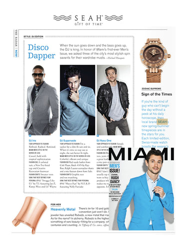 Miami Magazine highlights SEAH® watches