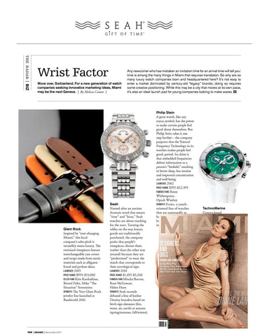 Miami Magazine features SEAH® watches