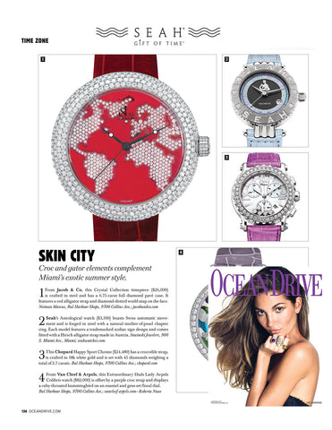 Ocean Drive Magazine features SEAH® watches