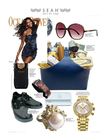 Ocean Drive Magazine features SEAH® jewelry