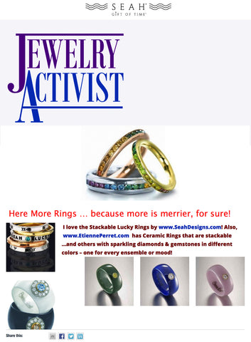 Jewelry Activist highlights SEAH® rings