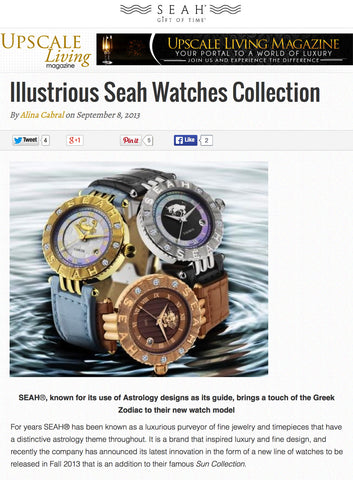 Upscale Living features SEAH® watches and jewelry