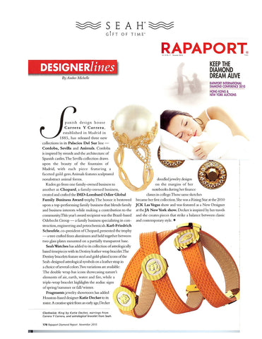 Rapaport features SEAH® bracelets