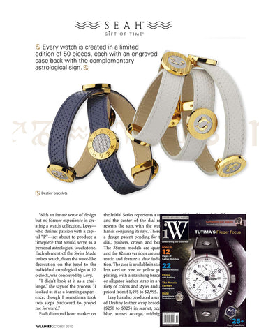 IW Magazine features SEAH's wrap bracelets