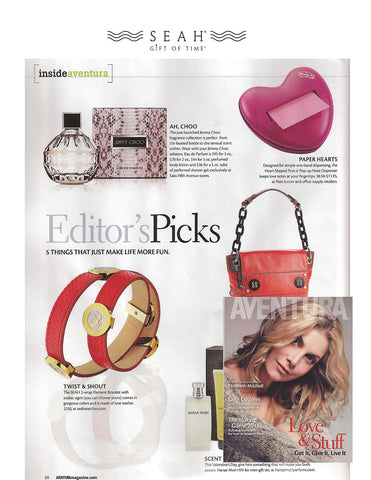 SEAH® Bracelets in Aventura's February 2011 issue Editor's picks