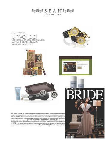 Hawaii Bride Magazine Loves our Astrology Cufflinks