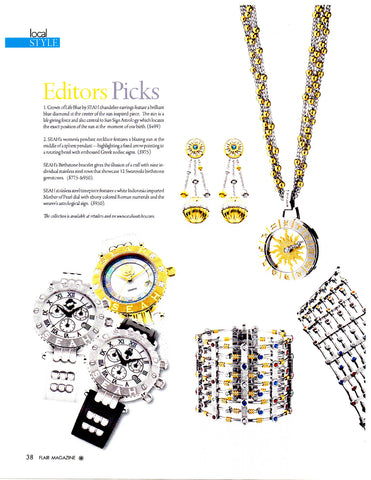 SEAH jewelry is a Flair magazine editor's pick again