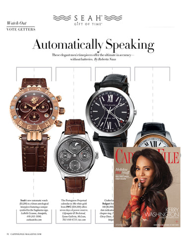 SEAH® Watches listed as one of Capitol File's Must-Wear Watches