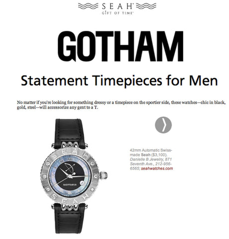 SEAH'S® Statement Timepieces for Men Gotham Magazine