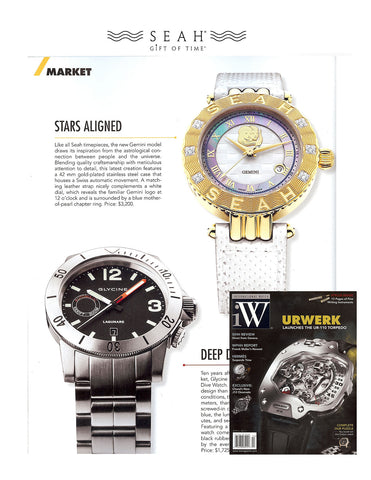 iW International Watch Magazine loves our SEAH® Astrology watch line
