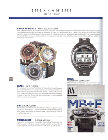 iW International Watch Magazine features our SEAH® Astrology watch line