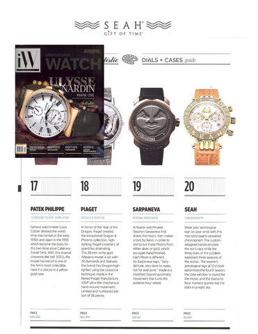 IW Magazine can't stop talking about our SEAH® Gift of Time Collection