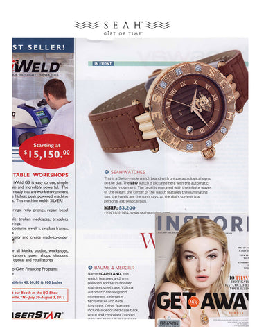 In Store Magazine loves our IDEX Magazine features our SEAH® Astrology Gifts of Time