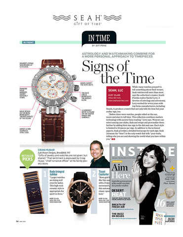 May 2010 Issue of InStore magazine breaks down our great our SEAH® watch features