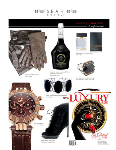 SEAH's® watches and astrology influenced jewelry featured in November's issue of Luxury Las Vegas