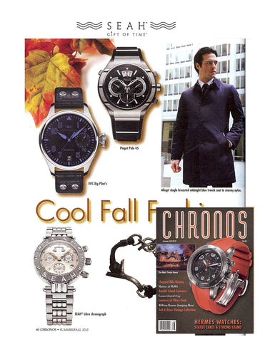 SEAH® Men's Collection featured in 2010 Issue of Chronos