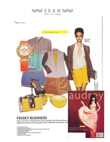 SEAH® Watches in Audrey magazine