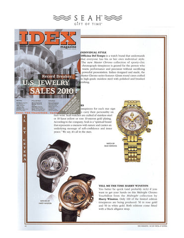 IDEX Magazine features our SEAH® Astrology watches