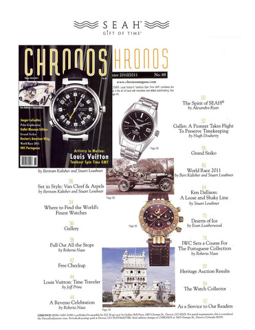 Designer and ownder of SEAH® Rachel Levy featured in Chronos magazine contents