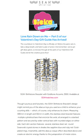 Sicka Than Average loves our SEAH Birthstone Bracelet