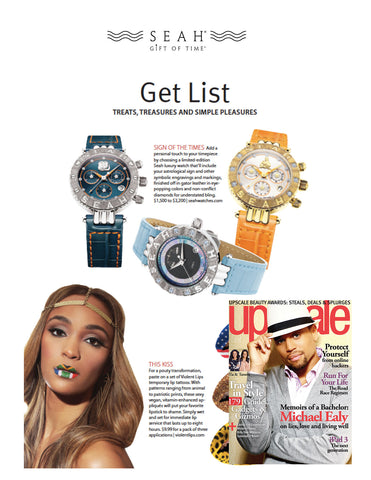 Upscale Magazine features SEAH® watches