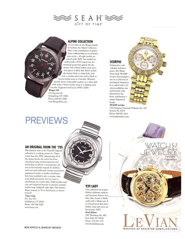 Watch and Jewelry features SEAH® watches