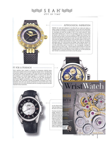 Wrist Watch Magazine Features SEAH® Designs