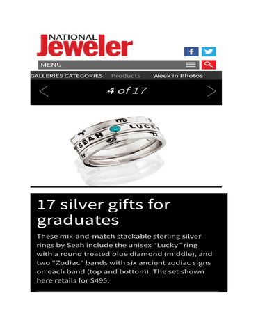 National Jeweler highlights SEAH® rings