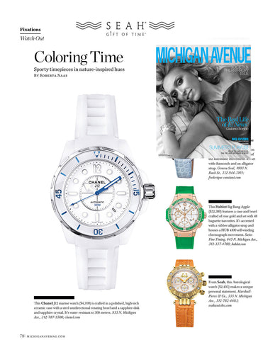 Michigan Avenue Magazine features SEAH® watches