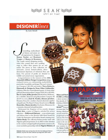 Rapaport features SEAH® watches