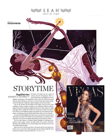 Vegas Magazine features SEAH® owner Rachel Levy's horoscope
