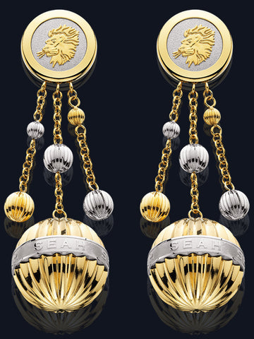 Chandelier Earrings with Astrological Sign LE-TT