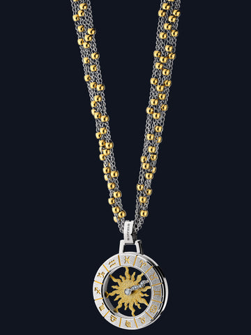 Ladies Astrology Necklace Sun Design NL-SP-TT