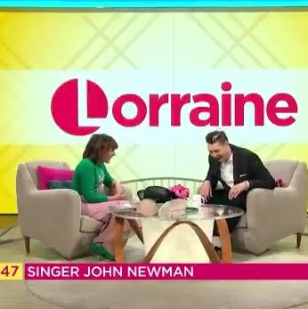 John Newman talks to Lorraine about Wear a Hat Campaign for Brain Tumour Symptom Awareness