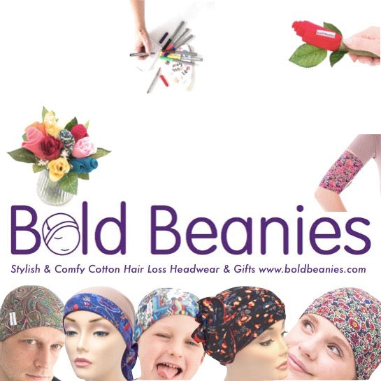 NEW FLYER! Bold Beanies Cancer Headwear & Chemo Clothing Accessories, Gifts & Books