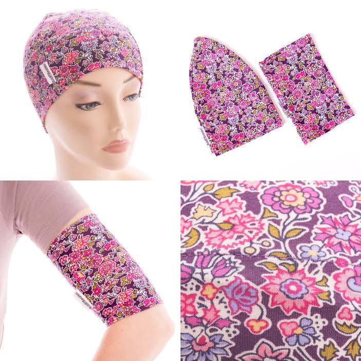 PICC Line Cover Sleeves and Matching Bold Beanie Chemo Hat